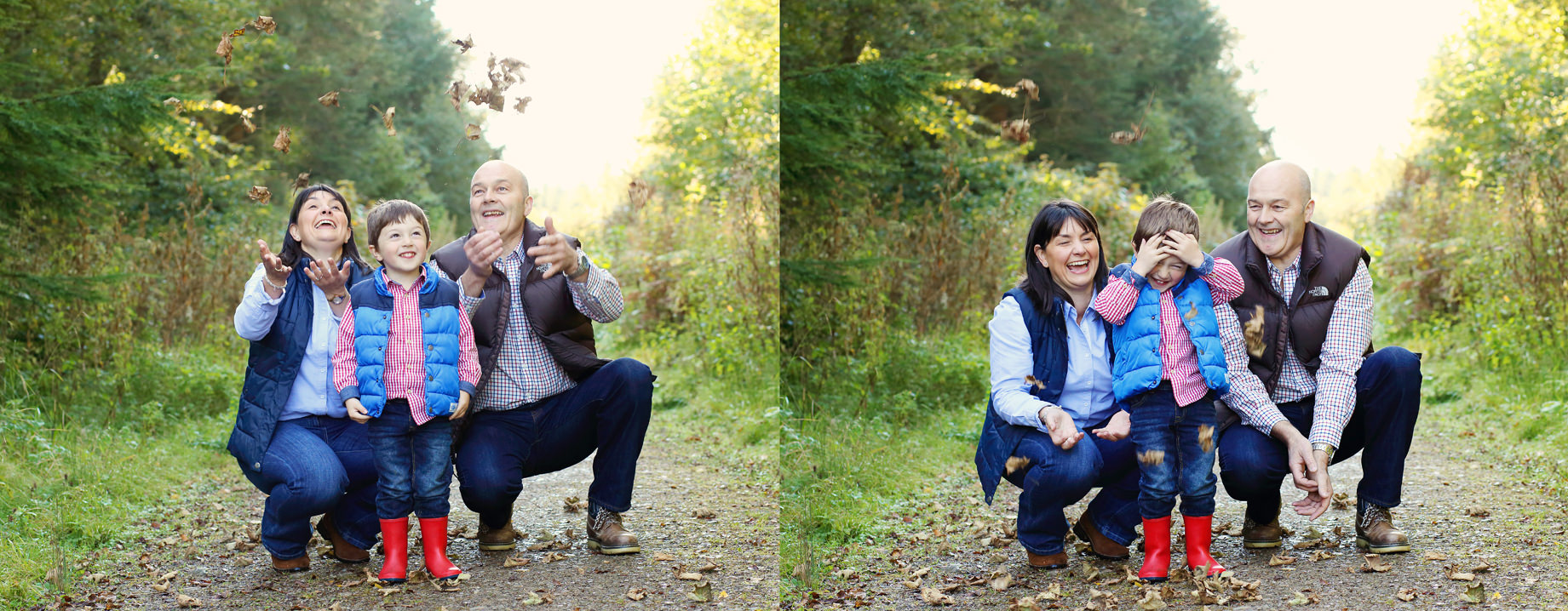 Family photo shoot in Hensol Forest South Wales
