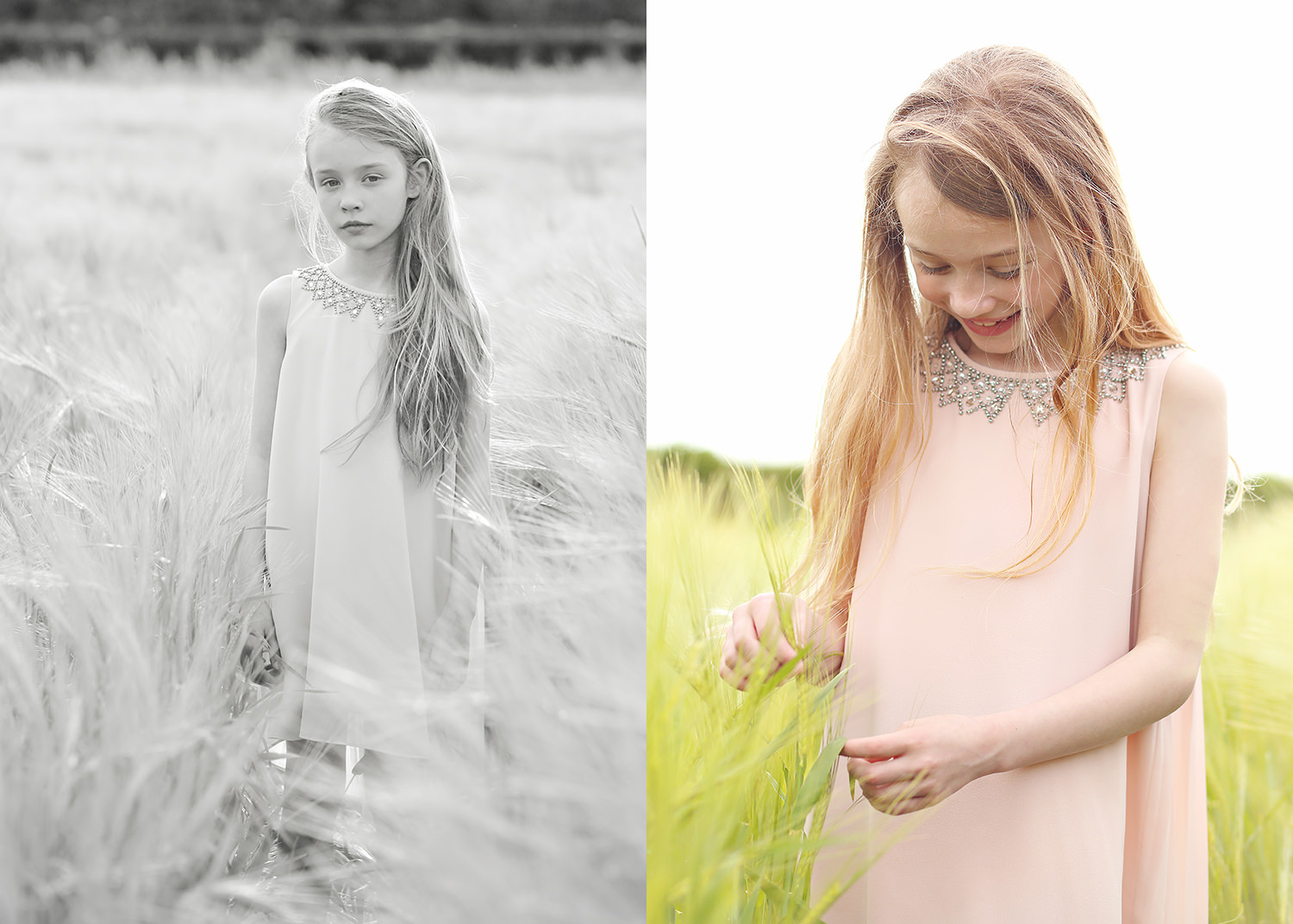 summer portraits of a girl