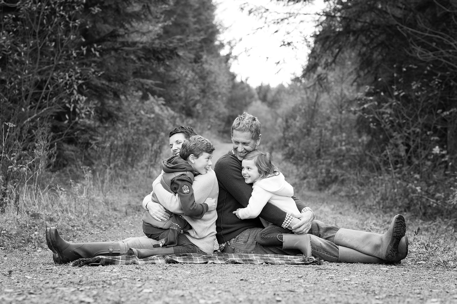 Family Photo Session with Gemma Griffiths Photography in Hensol forest.
