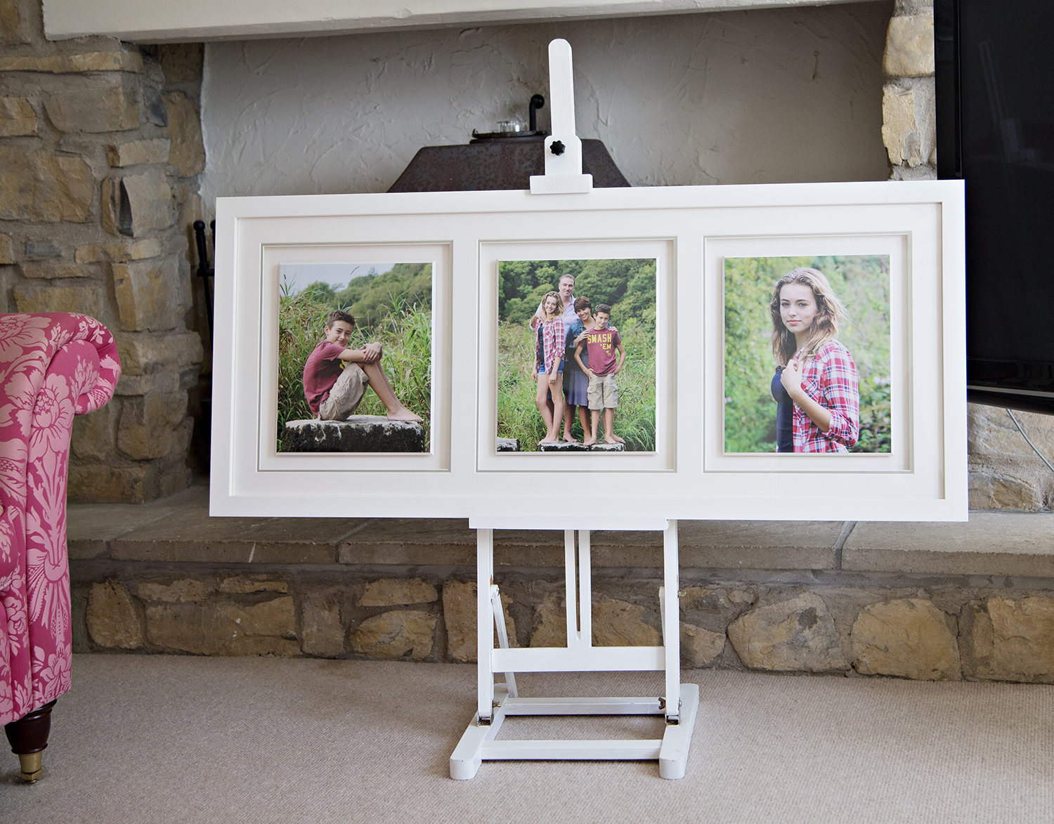 Framed triptych from Gemma Griffiths Photography