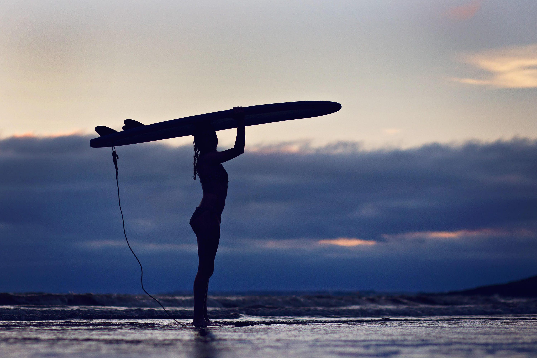 Southerdown beach surfer