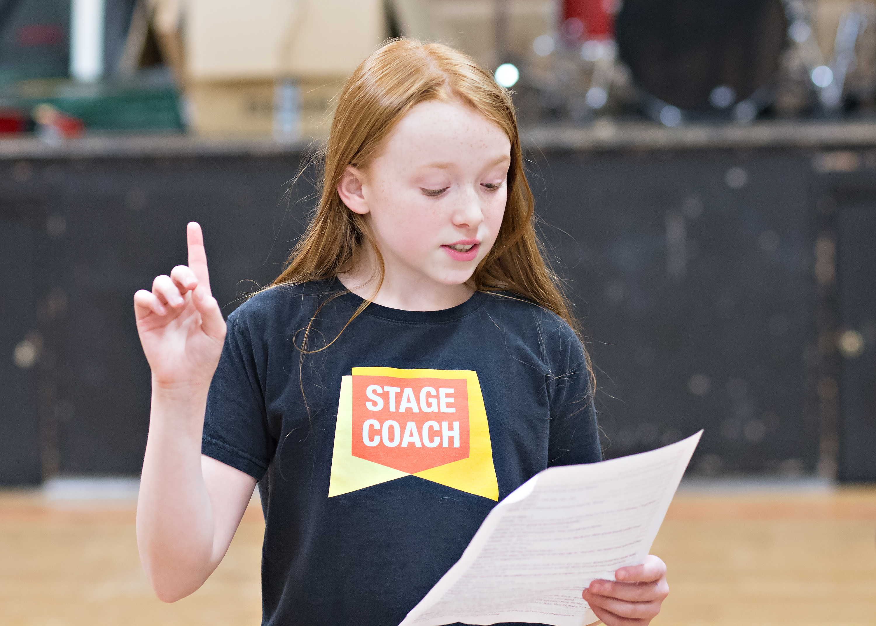 Child acting at Stagecoach