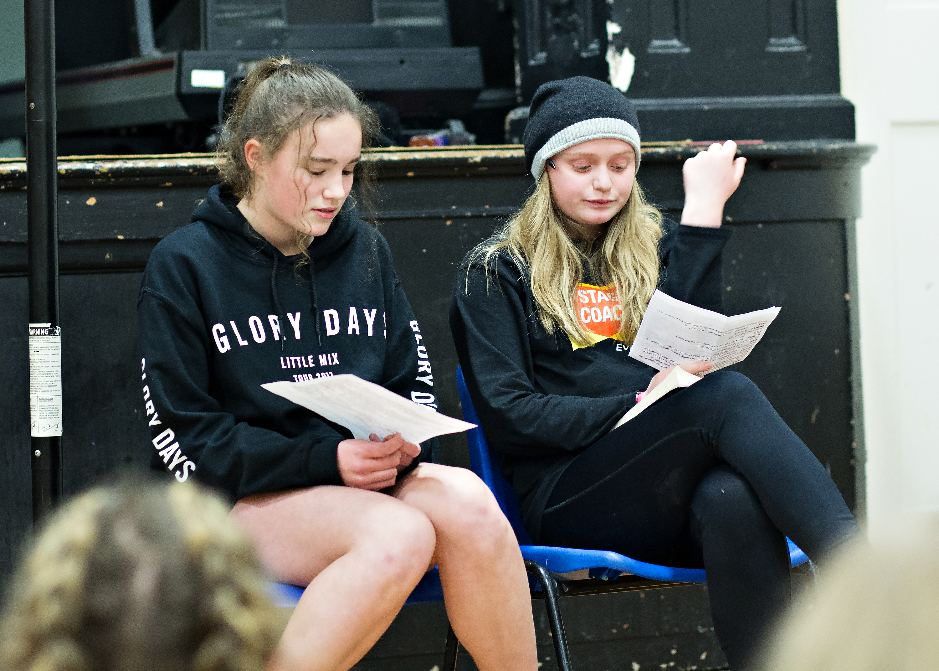 teens at acting class in Stagecoach