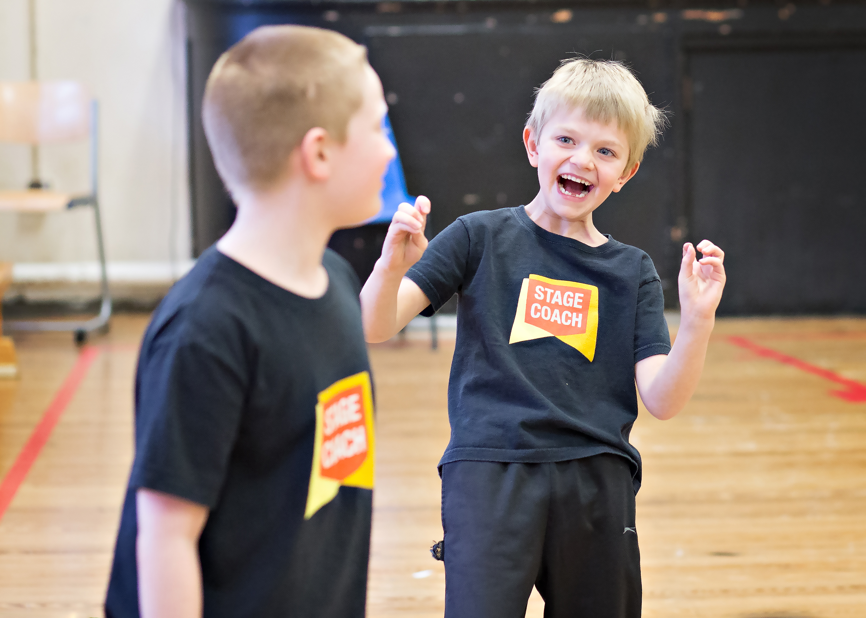 boys at acting class in Stagecoach