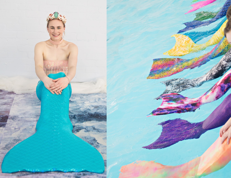 woman in mermaid tail