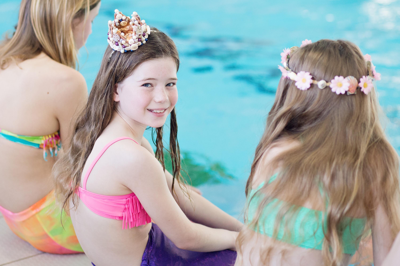 girl in mermaid tail