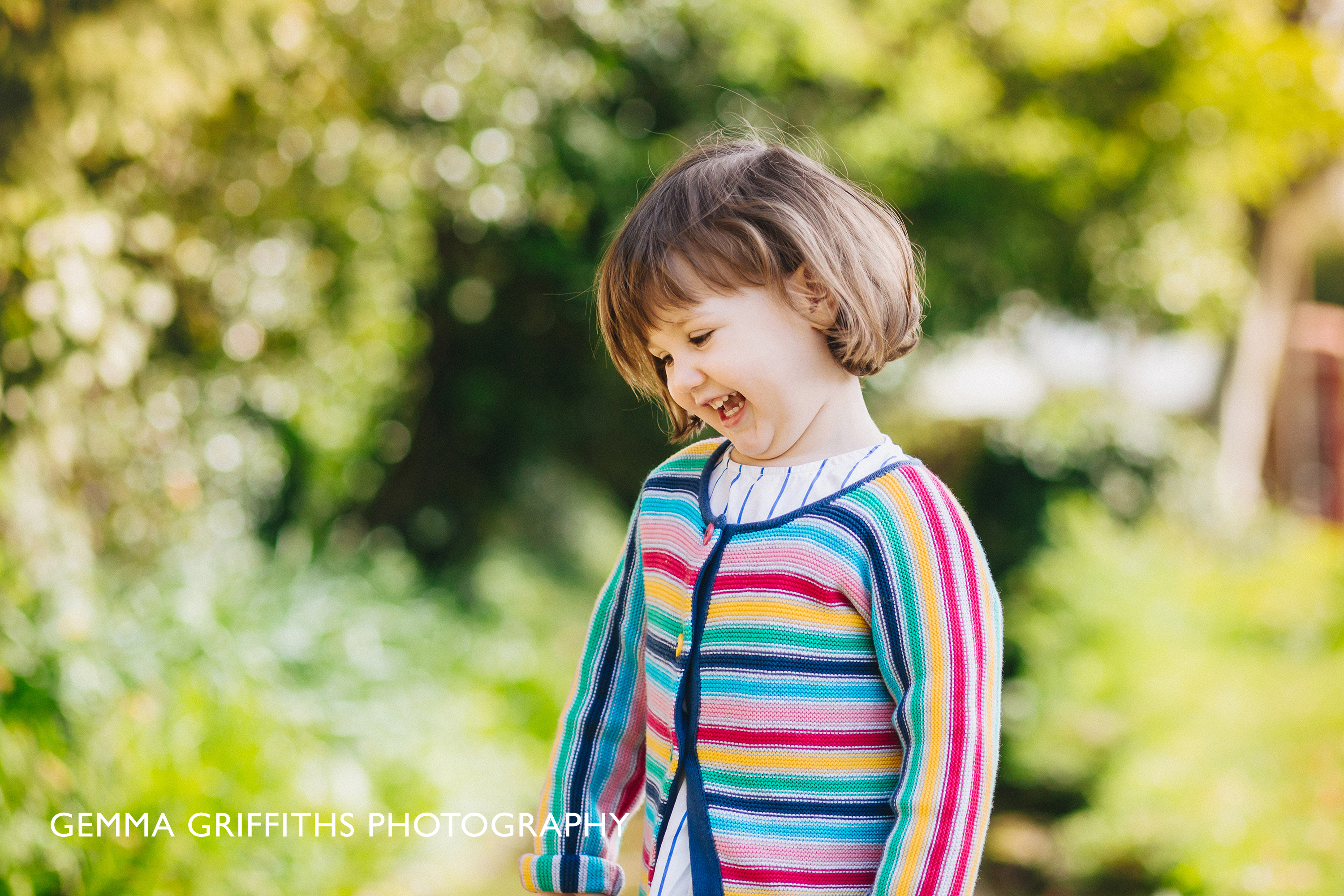 Portrait of a smiling toddler