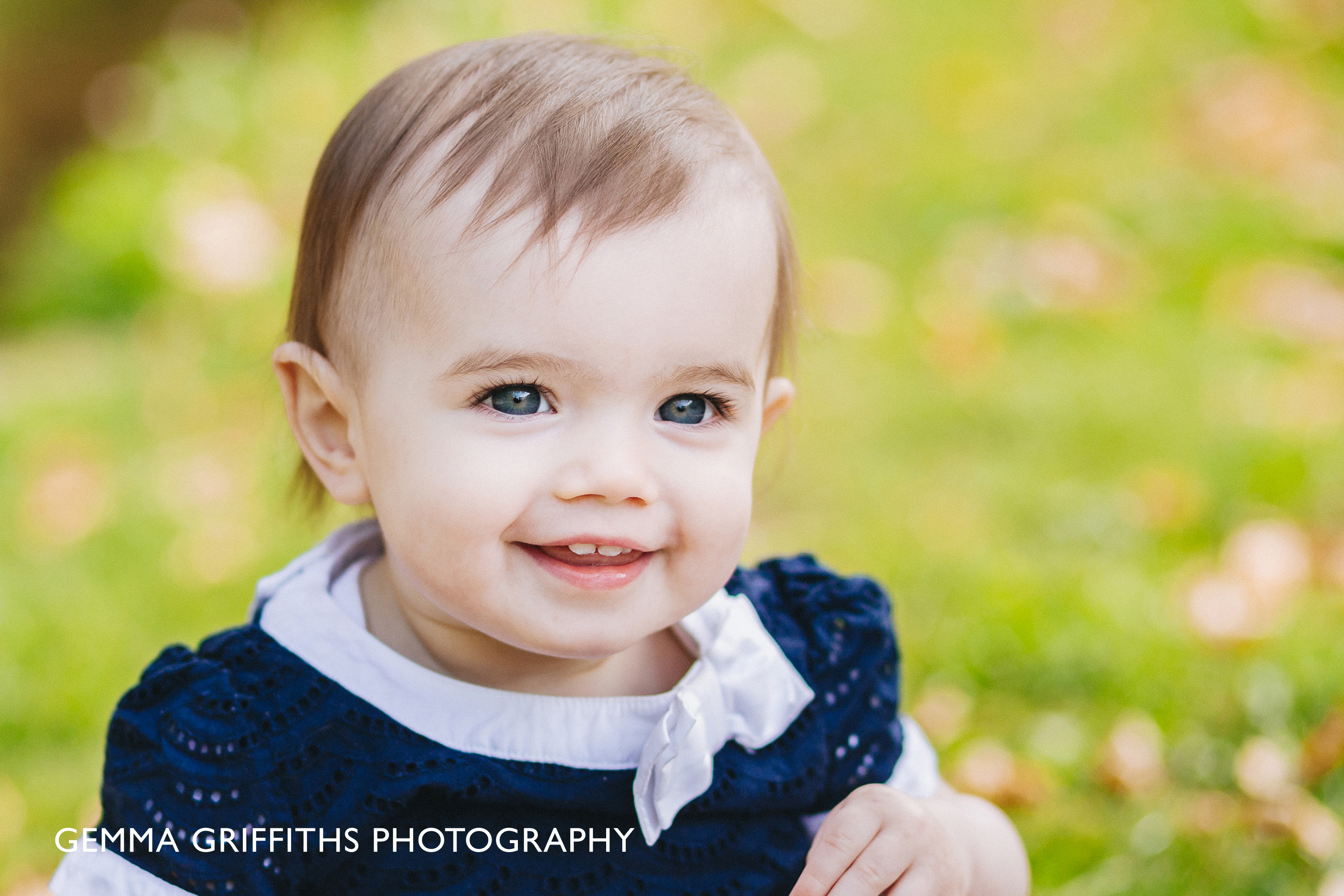 Portrait of a smiling baby