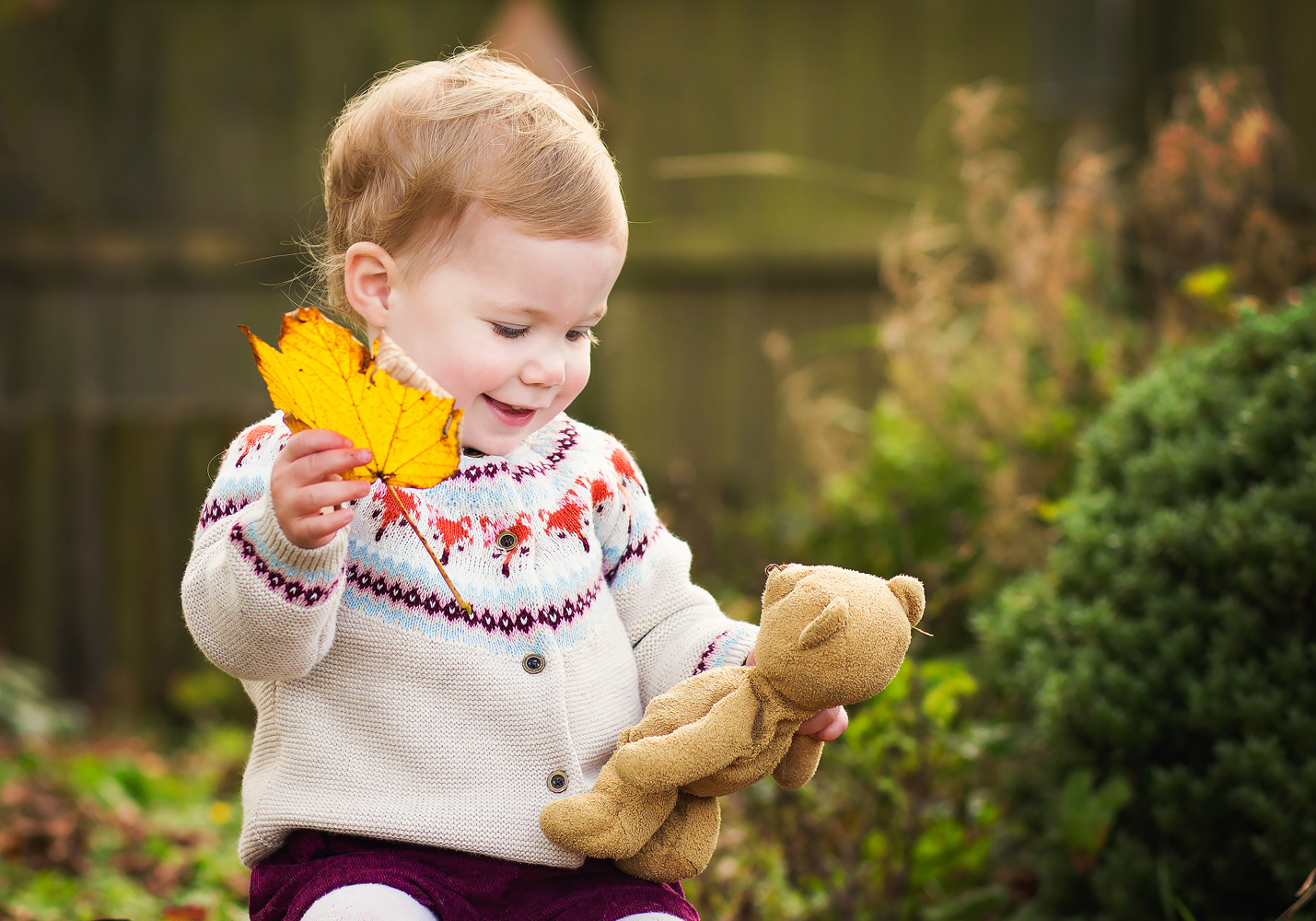 toddler in autumn