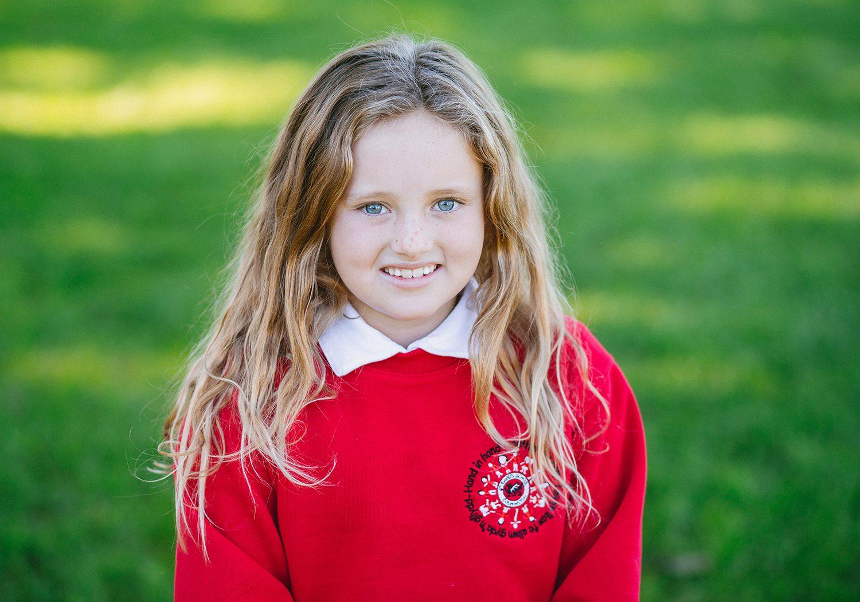 School portrait of girl