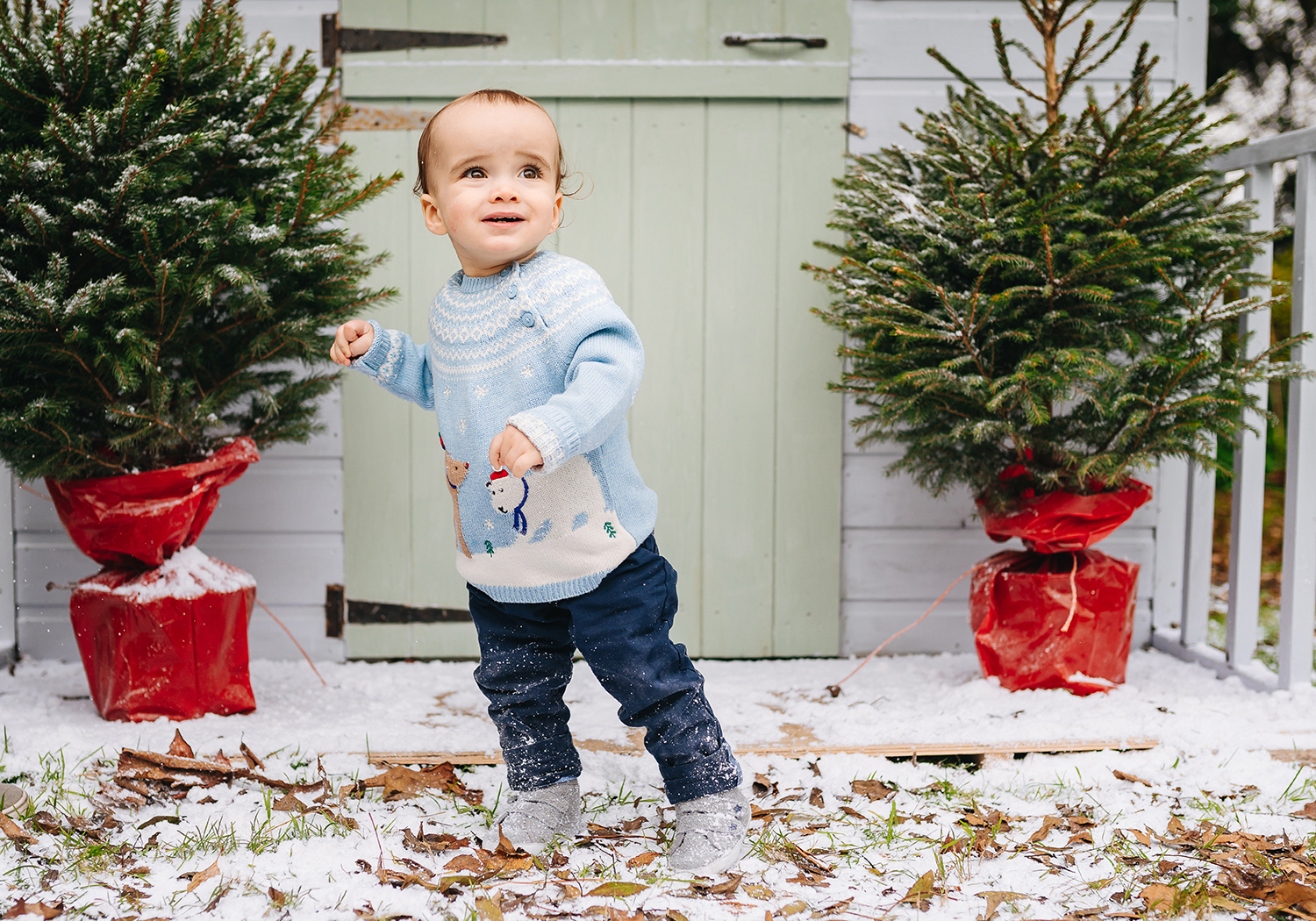 child in christmas set