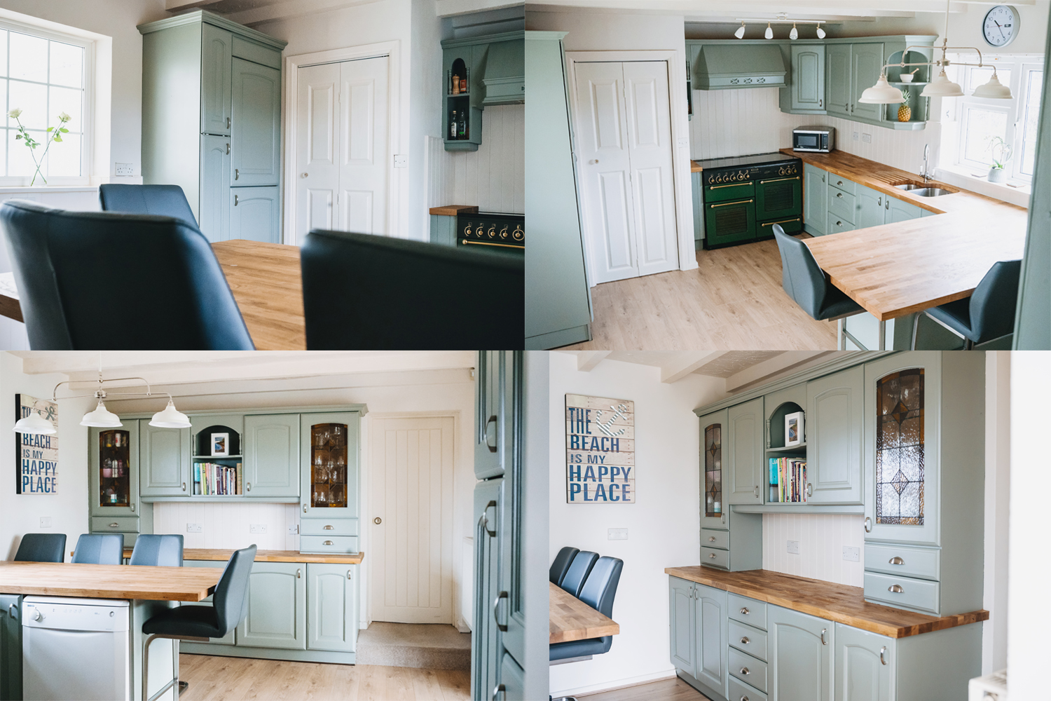 kitchen painted in farrow and ball paint
