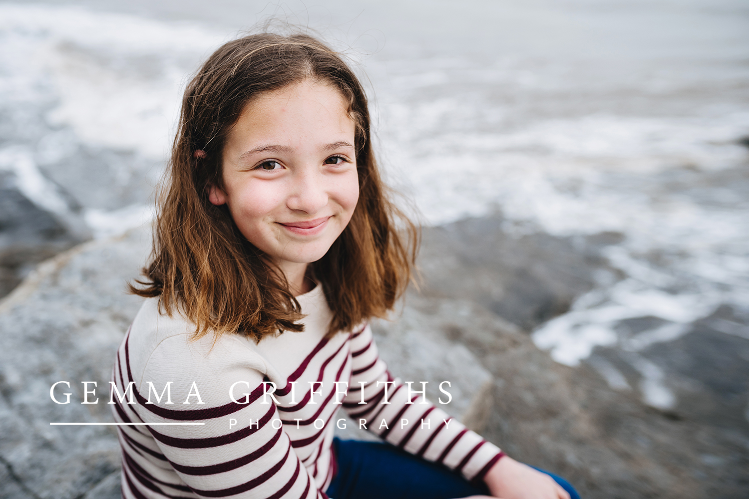 girl smiling on beach