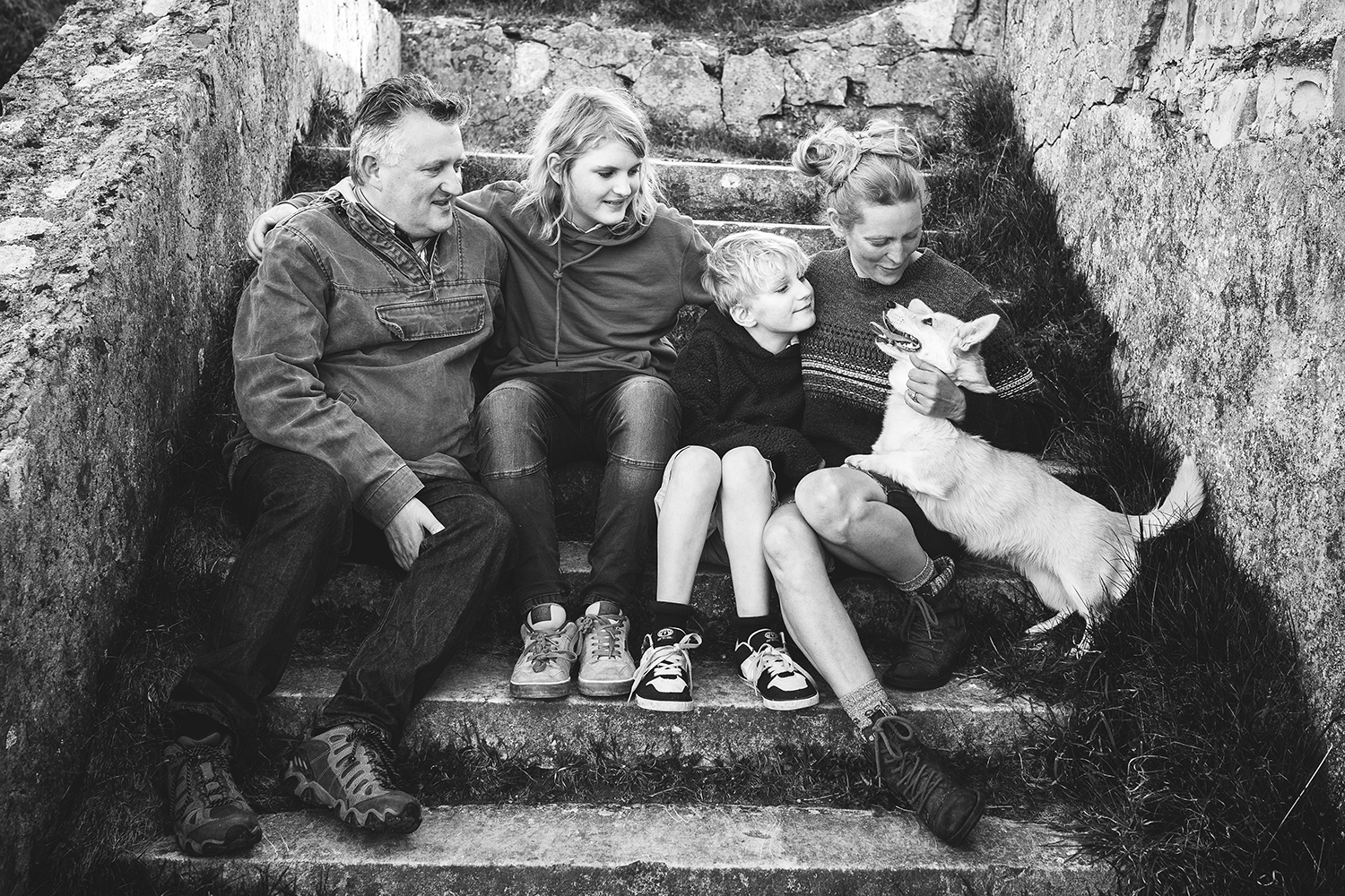 family and dog photo