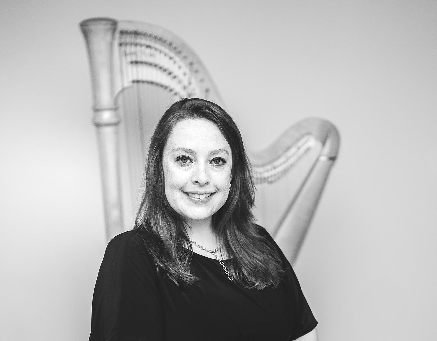 harpist photo shoot