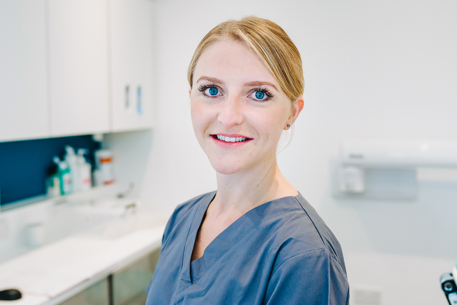 business headshot with dentist