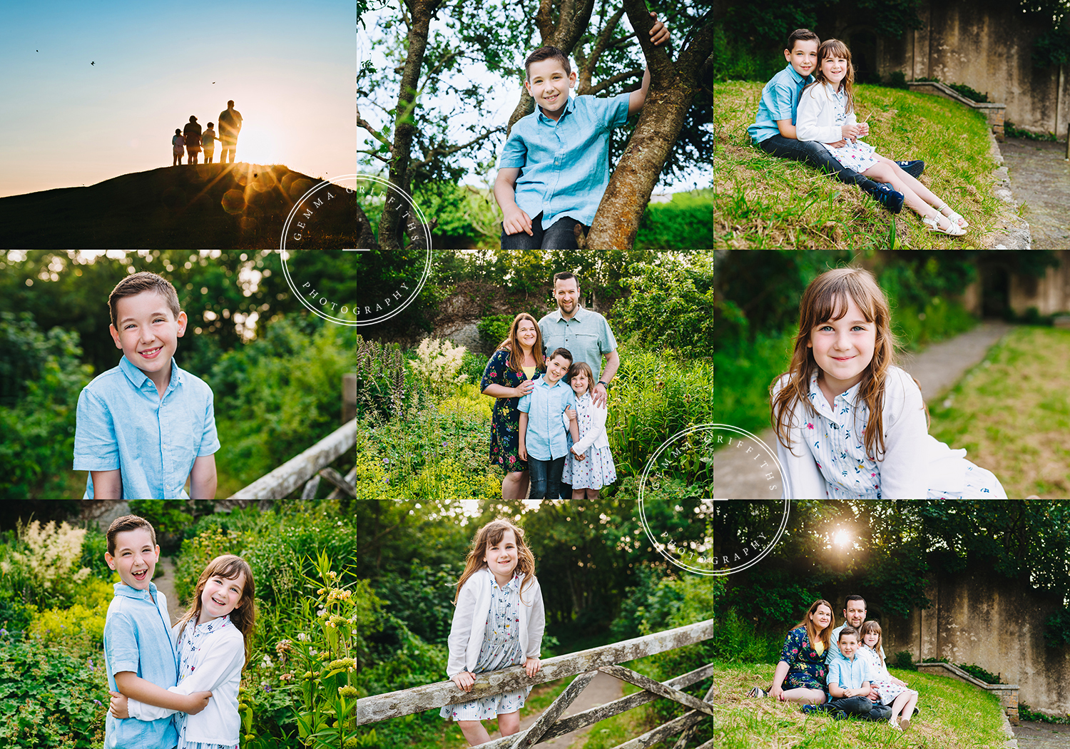 cardiff family photographer. photo shoot at Dunraven Gardens