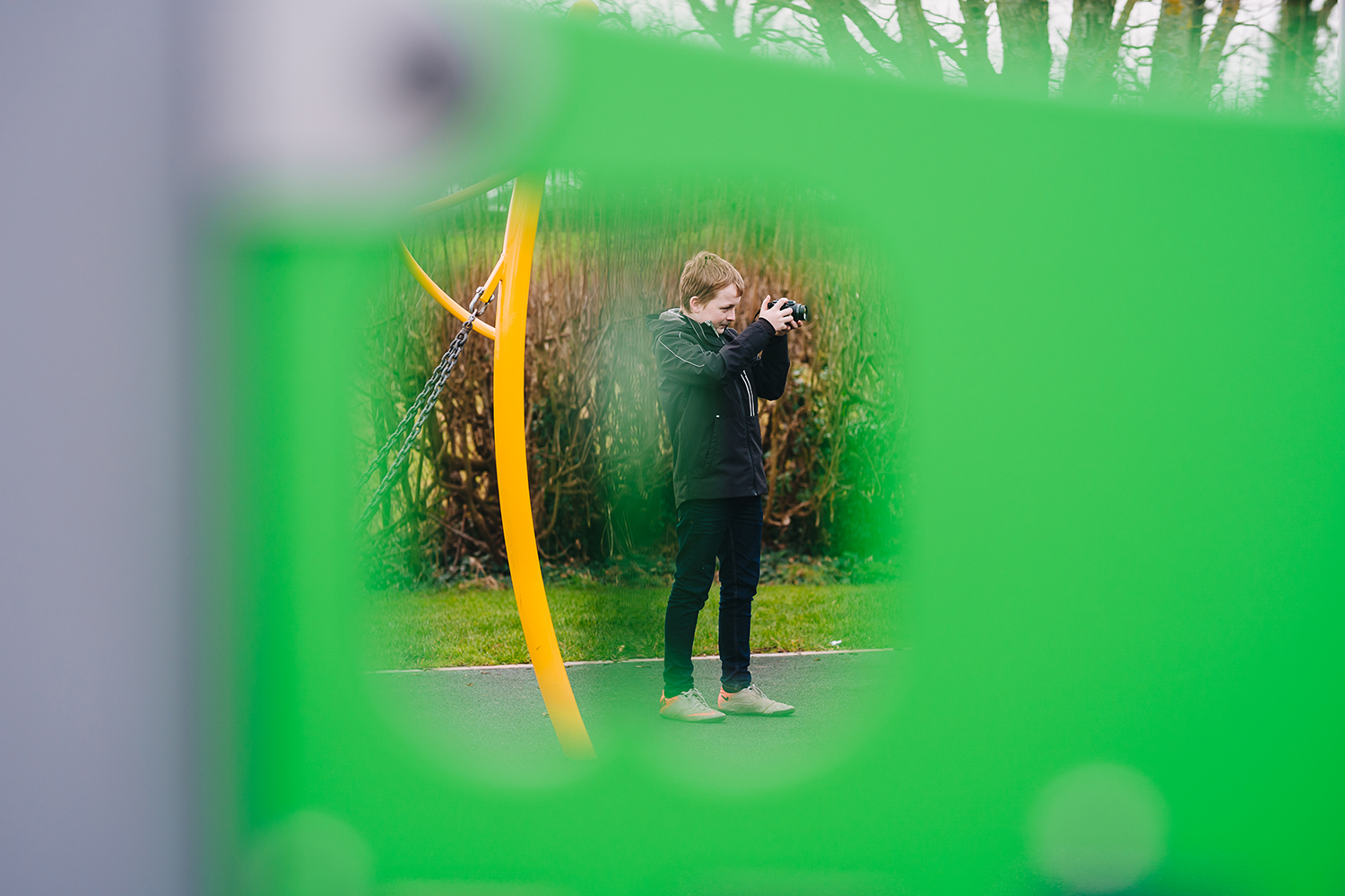 teenager learning photography