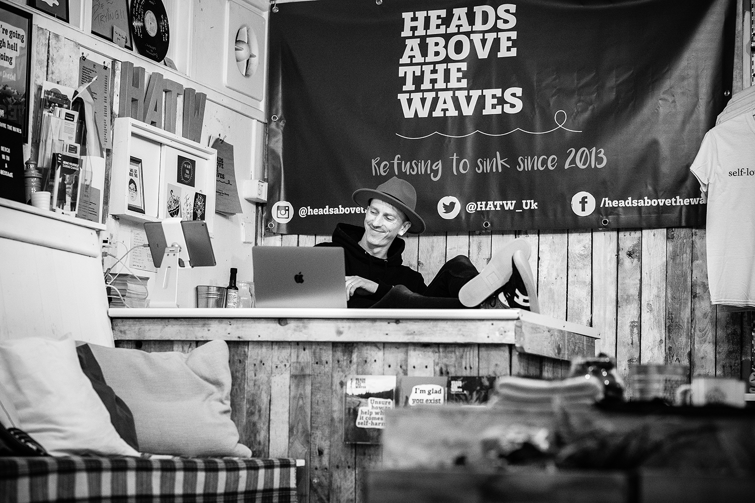 Heads above the waves shop interior