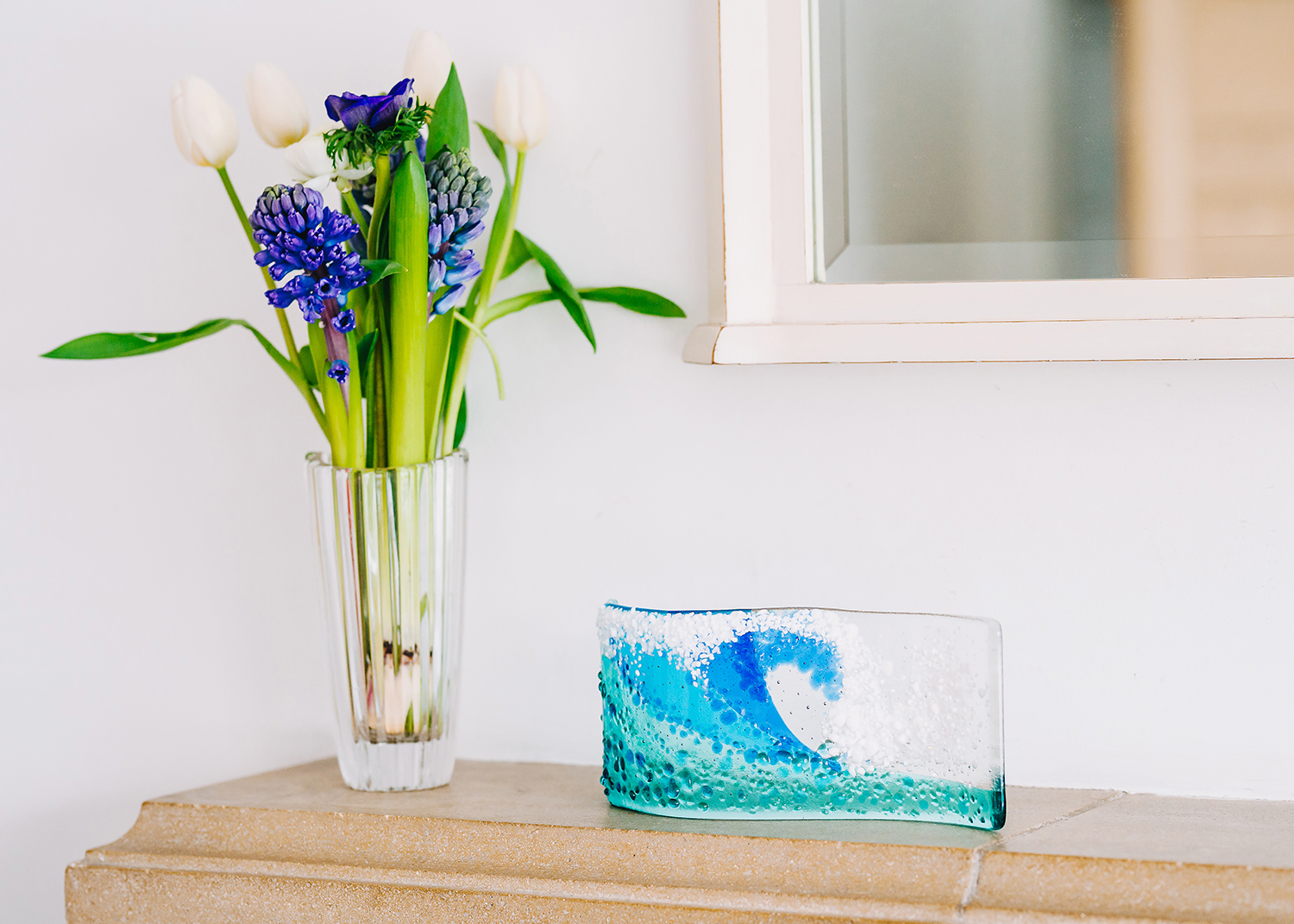 fused glass product shoot