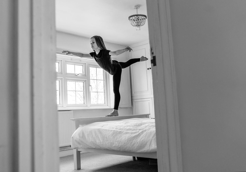 ballet photoshoot in lockdown