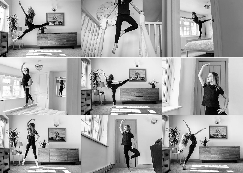 male ballet dancer in lockdown