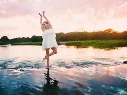 ballet dancer in a river