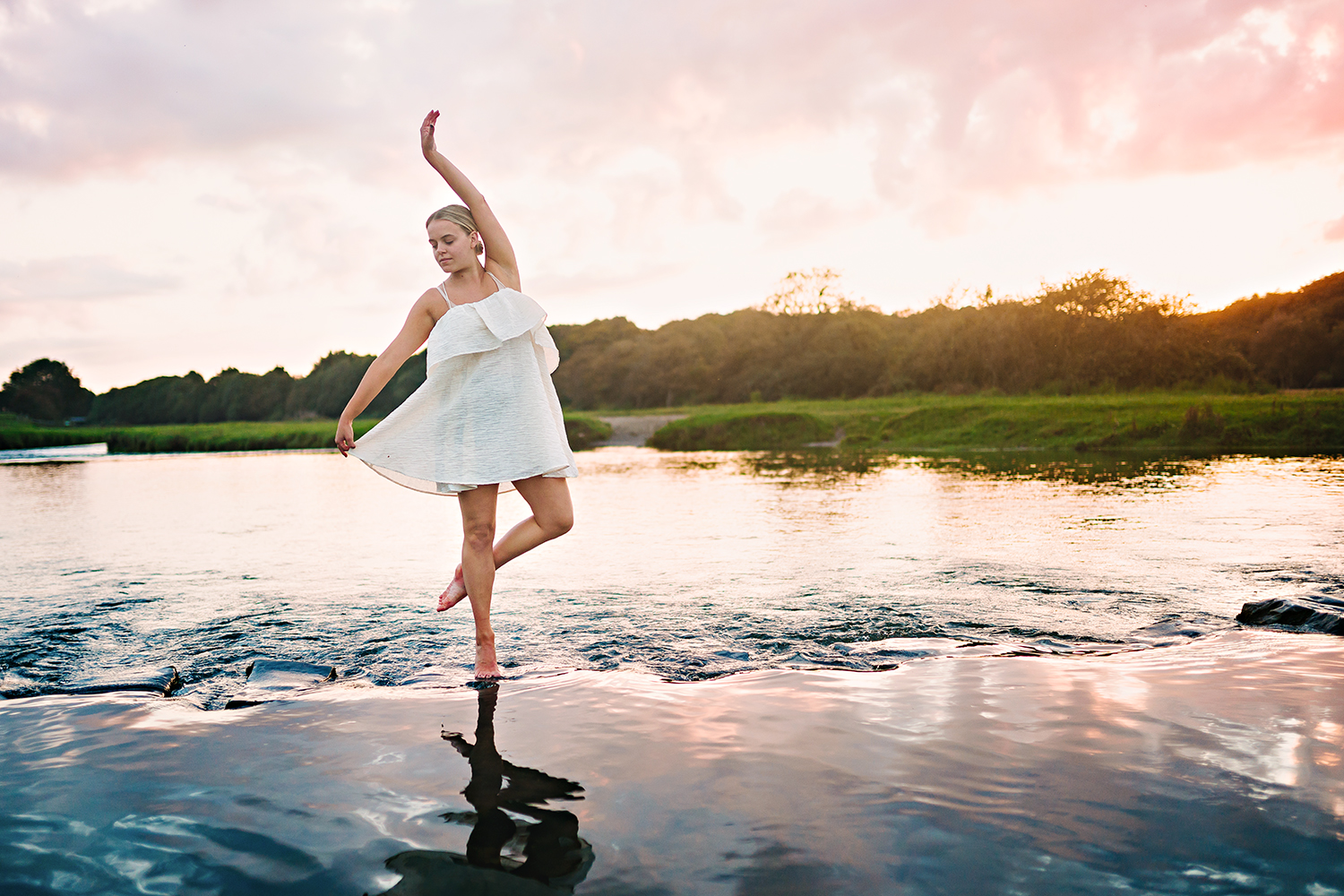 ballet dancer in a river