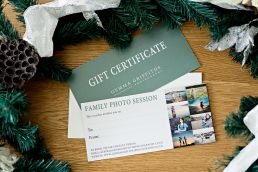 family photo shoot gift voucher